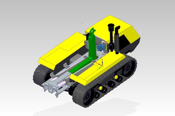 Línea 2. Vehículo polivalente para olivar en pendiente y de difícil mecanización